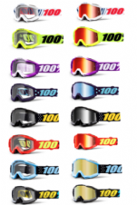 New Youth Kids 100% Accuri Goggles Motocross Downhill Clear & Mirror Lens Junior